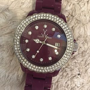 TOYWATCH Plasteramic Purple Dial Bling Bezel